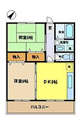 埼玉県さいたま市中央区上峰3丁目の賃貸アパートの間取り