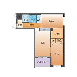 ハートフルマンション Tres[2階]の間取り
