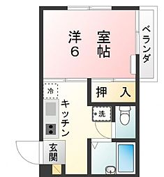 グレース大和田[2階]の間取り