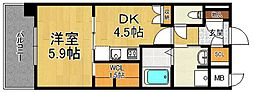 有恒五番館[4階]の間取り