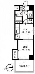 広島県広島市中区猫屋町の賃貸マンションの間取り