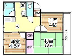 櫻シティA棟[201号室]の間取り