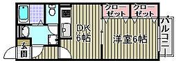 ハイツアーサー[102号室]の間取り