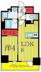 プレミスト板橋 6階1LDKの間取り