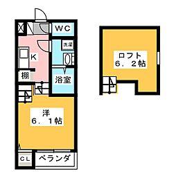 愛知県名古屋市中村区高道町4丁目の賃貸アパートの間取り