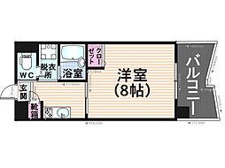 福岡県福岡市南区清水2丁目の賃貸マンションの間取り