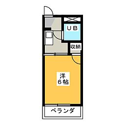 サニーコート天神山[2階]の間取り