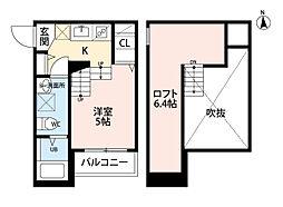 プランタン六本松[1階]の間取り