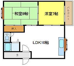 クロス9パーク神田[8階]の間取り