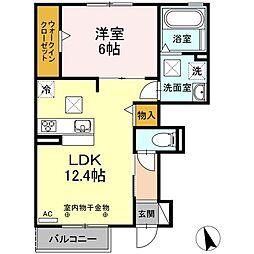 D-room町屋[1階]の間取り