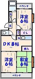 ボナールシャトレー原木[3階]の間取り
