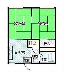 山形県山形市東青田3丁目の賃貸アパートの間取り
