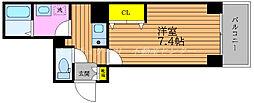 JR山陽本線 岡山駅 徒歩5分の賃貸マンション 6階1Kの間取り