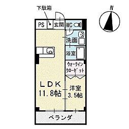 Mハウス2 1階[104号室]の間取り