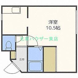 北海道札幌市東区北三十二条東17丁目の賃貸マンションの間取り