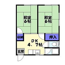 仁寿荘[102号室]の間取り