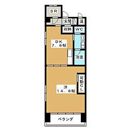 GOマンション[4階]の間取り