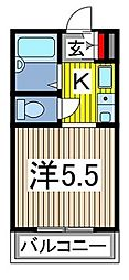 埼玉県蕨市塚越3丁目の賃貸マンションの間取り