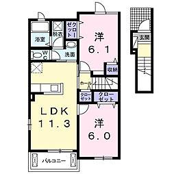 ブリジックIII[2階]の間取り
