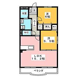 レインボーヒル[4階]の間取り