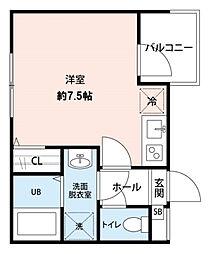CRESIA松戸[301号室]の間取り