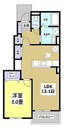 ビスタ・マールI[1階]の間取り