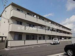 岡山県岡山市南区米倉の賃貸アパートの外観