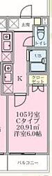 S-HOUSE横浜 1階1Kの間取り