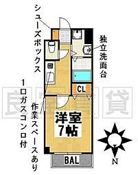 愛知県名古屋市千種区西崎町3丁目の賃貸マンションの間取り