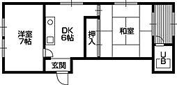 平賀マンション[0203号室]の間取り