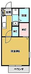 メゾンHANAMARU B[1階]の間取り