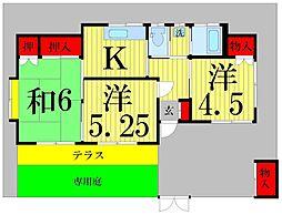 [一戸建] 埼玉県草加市氷川町 の賃貸【/】の間取り