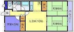 ル・ボオン21 菱屋東1 河内花園9分[2階]の間取り