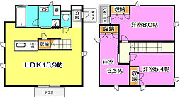 [一戸建] 埼玉県新座市大和田5丁目 の賃貸【/】の間取り