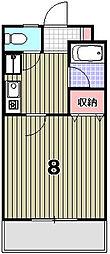 カーサ花園[208号室]の間取り