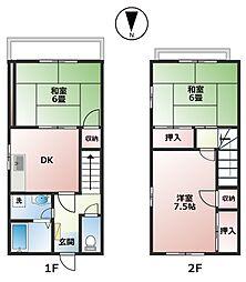 メゾネット狭間[1階]の間取り