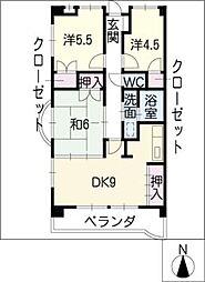 サンシャインビル[2階]の間取り