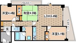 兵庫県神戸市中央区生田町1丁目の賃貸マンションの間取り