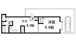 兵庫県神戸市長田区長田町6丁目の賃貸マンションの間取り