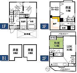 [一戸建] 東京都府中市清水が丘3丁目 の賃貸【/】の間取り