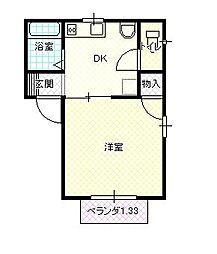 アパートメントハウス パオ2[2階]の間取り