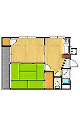 くらしまマンション[2階]の間取り