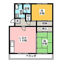 長久手IHマンション[5階]の間取り