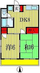 金子マンション5番館[3階]の間取り