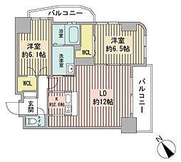 トミイビル宮の森No.77[6階]の間取り