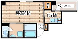 神戸市海岸線 ハーバーランド駅 徒歩9分の賃貸マンション 6階1Kの間取り