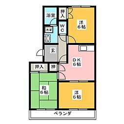 キャスリオン青山[1階]の間取り