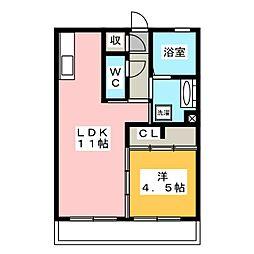 仮)D−room西脇[3階]の間取り
