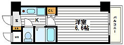 インターナショナル上汐[8階]の間取り
