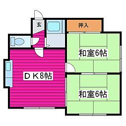 北海道札幌市東区北四十八条東10丁目の賃貸アパートの間取り